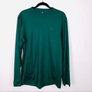 Adidas Green Long Sleeve CLIMA LITE Tee Large